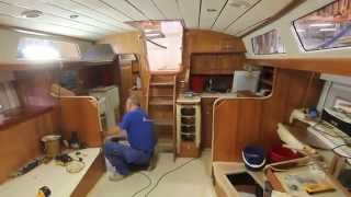 First Hallberg-Rassy 40 Mk II under construction 20 August 2015