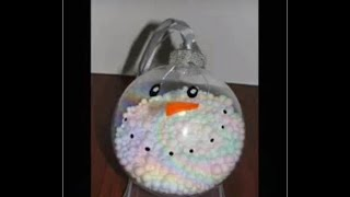 Easy Snowman Ornament - YouTube