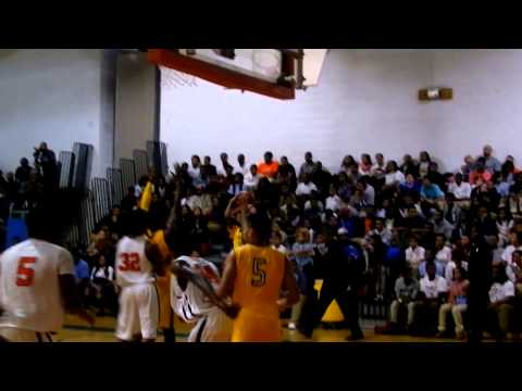 Lee three-pointer St. Frances/Poly boys basketball 12/7/12