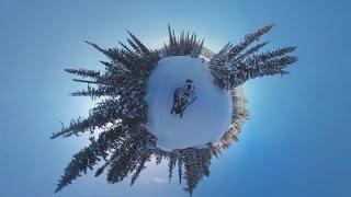 Зимняя сказка в 360: путешествие по Хакасии на снегоходах