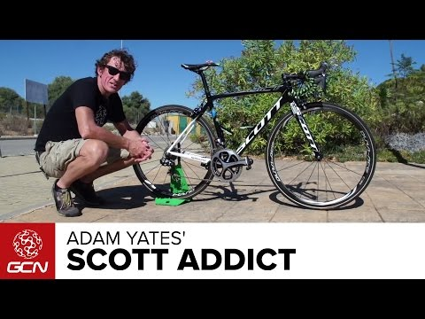 Scott - This is the Scott Addict of up-and-coming British climber Adam Yates. Remember the name. Subscribe to GCN on YouTube: http://gcn.eu/SubcribeToGCN Adam Yates may well win a stage of the 2014...