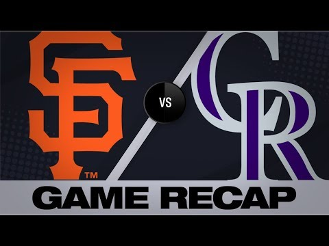 Video: McMahon, Desmond propel Rockies to 5-4 win | Giants-Rockies Game Highlights 8/2/19