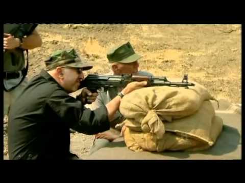 m16 - R. Lee Ermey puts the AK47 and the M16 up against each other to see which is the better rifle.
