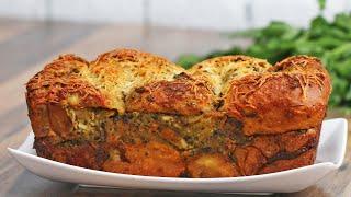 Pesto Chicken-Stuffed Garlic Bread by Tasty