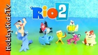 Rio 2 Movie Characters Collector Set [Box Open] Blu, Jewel, Gabi, Pedro, Nico, Luiz, Nigel, Charlie