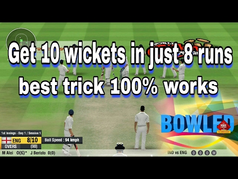 WCC2 Best bowling trick (English subtitle)
