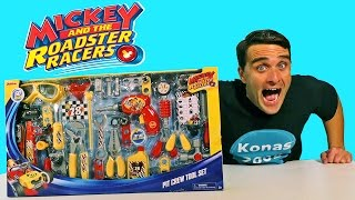 Mickey & The Roadster Racers Pit Crew Tool Set!  Disney Toy ...