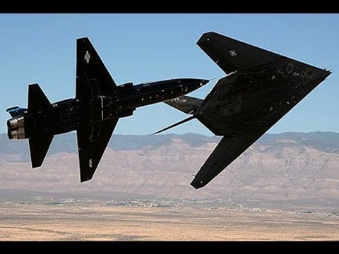 Watch this unique flyby of an F-117...