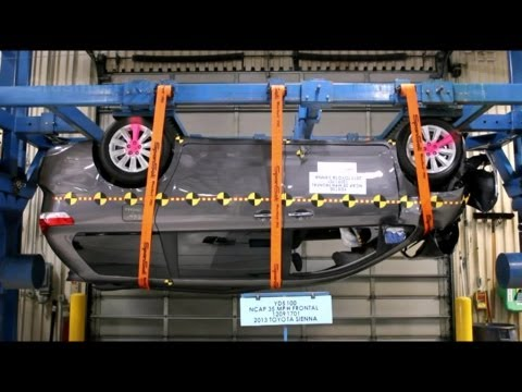 sienna - Complete pre-test documentation and post-test review for Toyota Sienna NHTSA frontal crash test. High speed camera crash footages for this test are available...