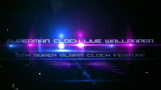 Superman Clock Live Wallpaper YouTube video