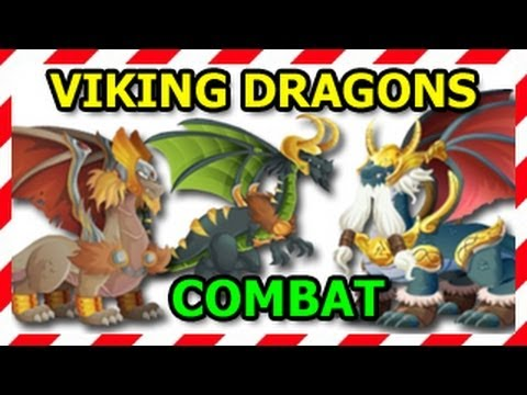 VIKING DRAGONS COMBAT Thor Dragon Loki Dragon and Odin Dragon Attaks