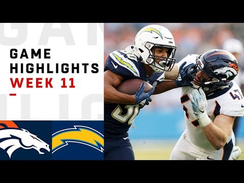 Broncos vs. Chargers Week 11 Highlights | NFL 2018