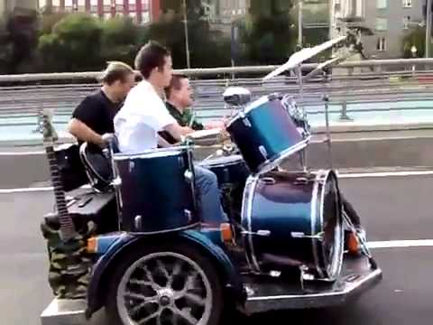 Guitar and Drums on the Sidecar