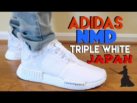 "ADIDAS NMD (TRIPLE WHITE)  ""JAPAN"" PK REVIEW & ON FEET"