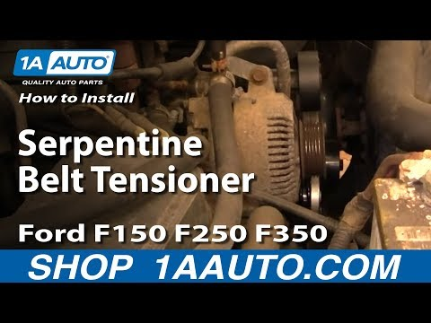 How To Install Replace Serpentine Belt Tensioner Ford F150 F250 F350 92-96 1AAuto.com