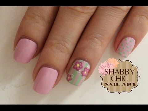 nail art - shabby chic