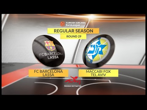 EuroLeague Highlights RS Round 29: FC Barcelona Lassa 76-71 Maccabi FOX Tel Aviv