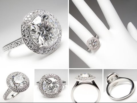 Halo Engagement Rings and Wedding Bands