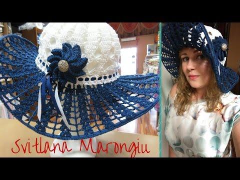 Tutorial Cappello estivo in cotone all'uncinetto - How to crochet easy summer hat