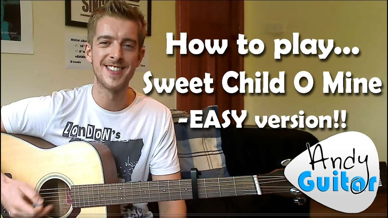 Sweet Child O Mine Guitar Lesson Guns n Roses – EASY BEGINNERS CHORDS VERSION!