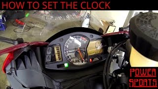 9. How To Set The Clock On A Honda CBR600RR