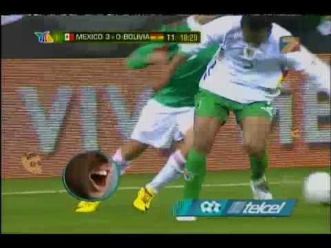 Gol de Braulio Luna frente a Bolivia.