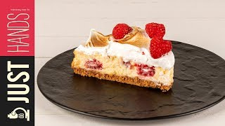 White chocolate raspberry cheesecake | Akis Kitchen by Akis Kitchen