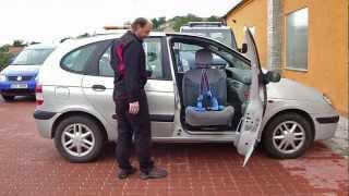 Mechanicky otočná a výsuvná sedačka 003 ve voze RENAULT Scenic