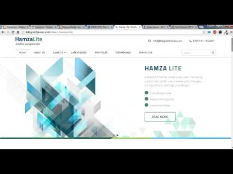Hamza Lite- How to create a Homepage/Forntpage Template