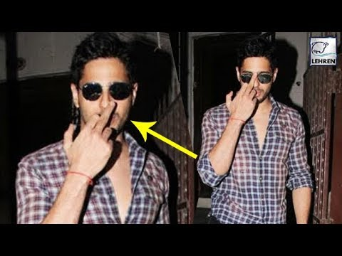 SHOCKING! Sidharth Malhotra Abuses Media By Flashi