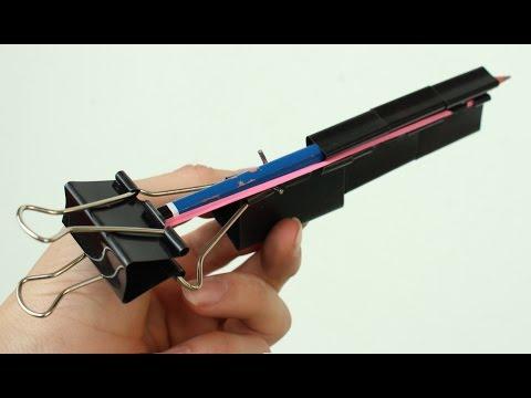 Come fare una pistola con clip legante