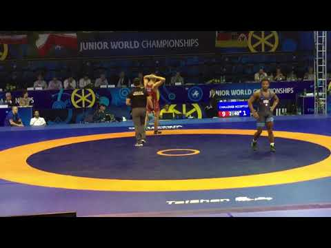 Акжол Махмудов Vs Bey K   Junior World Championship 2018