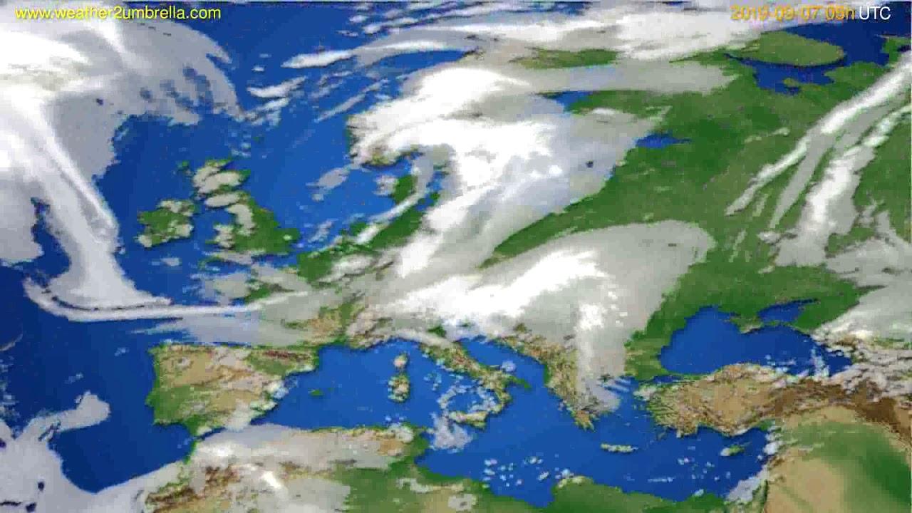 Cloud forecast Europe // modelrun: 12h UTC 2019-09-04