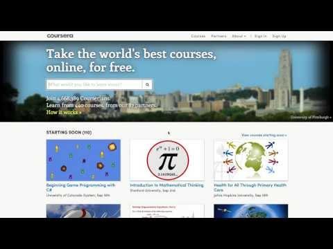 Vidéo de démonstration Coursera