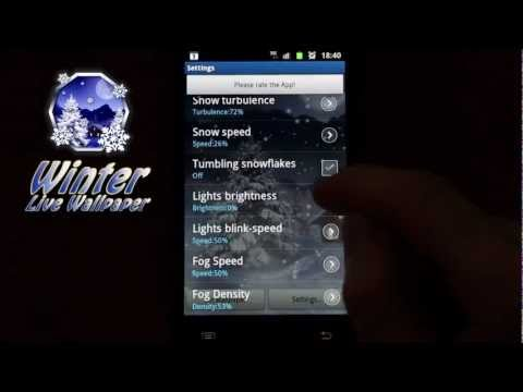 Video of Winter Snow Live Wallpaper PRO