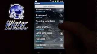 Winter Snow Live Wallpaper PRO YouTube video