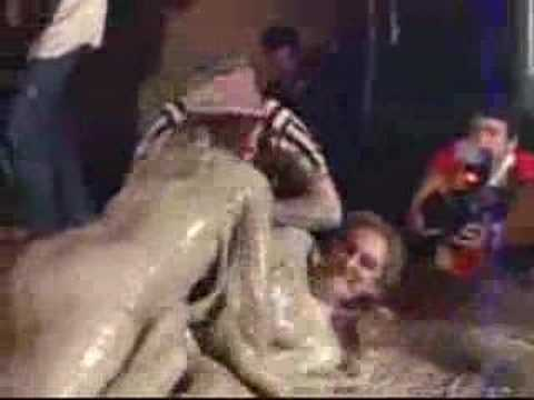 mud wrestling ripping clothes off
