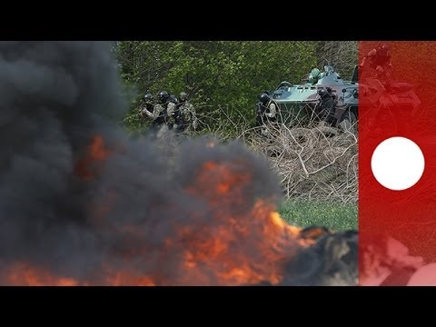Army - Up to five pro-Russian gunmen have been killed near the eastern Ukrainian city of Slovyansk according to the Ukrainian Interior Ministry after the Ukrainian army moved to demolish illegal checkpoin...
