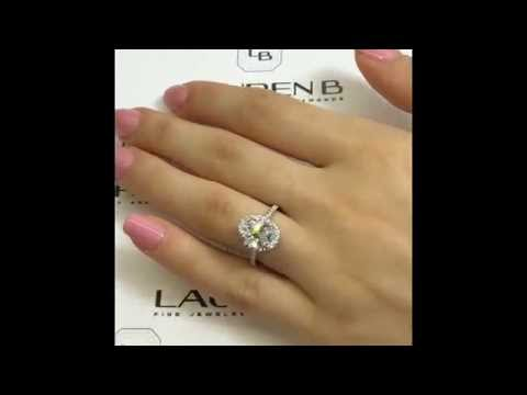 2.01 ct Oval Diamond Halo Engagement Ring