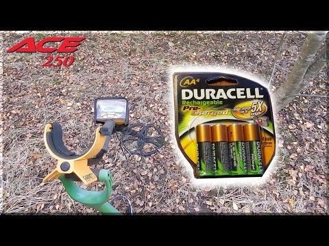 Garrett Ace 250 Metal Detector Tips / Rechargeable Batteries
