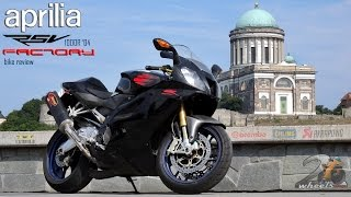4. Aprilia RSV1000R Factory bike review / utcai teszt - 2WheelsEurope HD