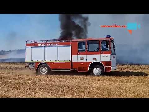 POŽÁR TRAKTORU A POLE VĚTRUŠICE 2