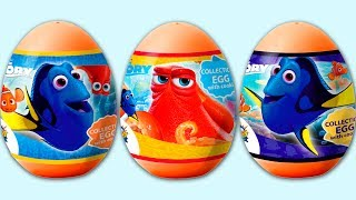 """Unboxing 3 orange plastic surprise eggs finding Dory from candy Planet. Each of these surprise eggs include a candy, sticker and awesome surprise toys from the Dory movie.© Surprise Eggs SHOW: http://youtube.com/user/SurpriseEggsSHOWMusic:""""Beachfront Celebration"""" Kevin MacLeod (incompetech.com)Licensed under Creative Commons: By Attribution 3.0http://creativecommons.org/licenses/by/3.0******************Watch another videos******************3 Surprise Eggs Little Mole 3 Green Plastic Eggs from Super Surprise for kidshttps://youtu.be/Tffl70uXCPo3 Pets Surprise Eggs, Yellow Plastic Egg from Sweets & Surprises for kids the Secret Life of PETShttps://youtu.be/OjS-_96Bd_47 Jajko Niespodzianka Frozen Auta 2 Kinder Niespodzianki TMNT Spiderman Monsters University Jajahttps://youtu.be/t1QeZ5LRwnY"""