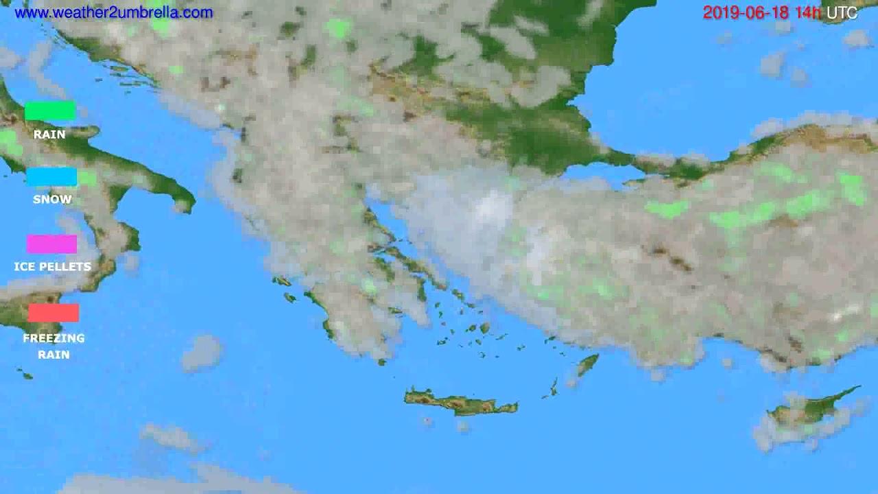 Precipitation forecast Greece // modelrun: 12h UTC 2019-06-16