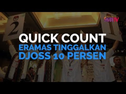 Quick Count, Eramas Tinggal Djoss 10 Persen
