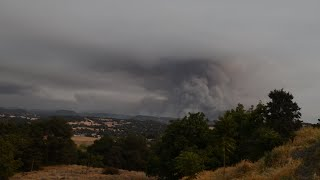 Butte Fire Timelapse | Significant Fire Activity (9-11-15)