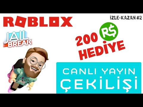 200 ROBUX ÇEKİLİŞ #12 (Roblox Jailbreak Canlı Yayın)