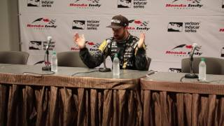 After finishing P3 in the Honda Indy Toronto, James Hinchcliffe spoke with the media.