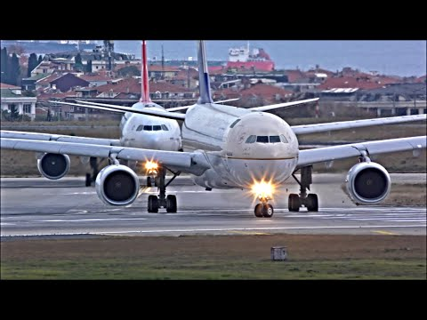Plane Spotting at Istanbul Ataturk, IST - Busy Evening Departures | 06/11/18