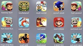 Subway Surfer,Sonic Forces,Minion Rush,Temple Run 2,Tom Gold Run,Mario Run,Ninja Run,Sausage Run